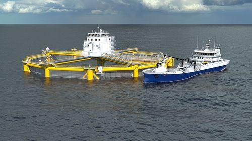 Global maritime designs offshore fish farm for Prn fish oil