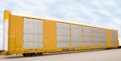 The Greenbrier Companies today introduced Multi-Max™, a new automotive-carrying railcar. With a patented adjustable deck, it is the first automotive railcar that can be reconfigured between two decks and three decks in as little as five hours. In a 2-deck configuration, Multi-Max can carry light trucks and SUVs. Multi-Max carries sedans and compact cars in a 3-deck configuration.