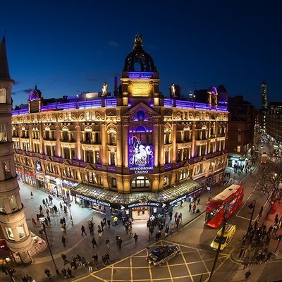 The newest myVEGAS mobile app Rewards partner, The Hippodrome Casino, located in the heart of London's historic Leicester Square.