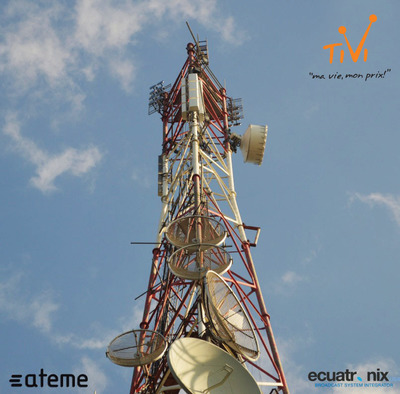 "ATEME announced at NAB that a new pay TV operator, TiVi, is launching an innovative digital terrestrial TV service next month, in Haiti. Built around the TITAN software platform from ATEME, TiVi will combine advanced DVB-T2 transmission with ATEME's highly efficient MPEG-4 compression technology. TiVi is now able to offer more than 75 channels within its lineup, at very high quality. The service is also novel in using a software based ""all IP"" approach for the headend, making it easier to deploy new features and add more channels in the future.  (PRNewsFoto/ATEME)"