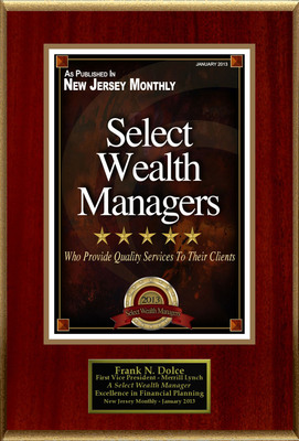 "Frank N. Dolce Selected For ""Select Wealth Managers.""  (PRNewsFoto/American Registry)"