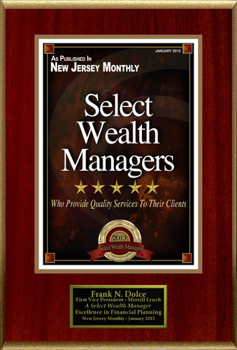 Frank N. Dolce Selected For 'Select Wealth Managers'