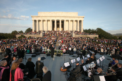 Easter Sunrise Service at the Lincoln Memorial in Washington, DC - April 2015. Photo courtesy Capital Church.