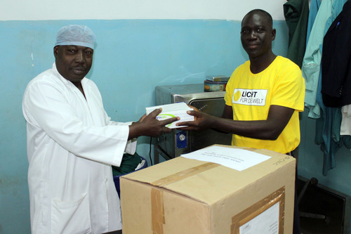 Donations reached the project countries of LIGHT FOR THE WORLD. Salfo Congo from the National Center for ...