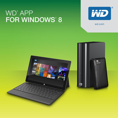 WD(R) Makes It Easy To Discover, Enjoy And Protect Digital Content On Windows 8.  (PRNewsFoto/WD)