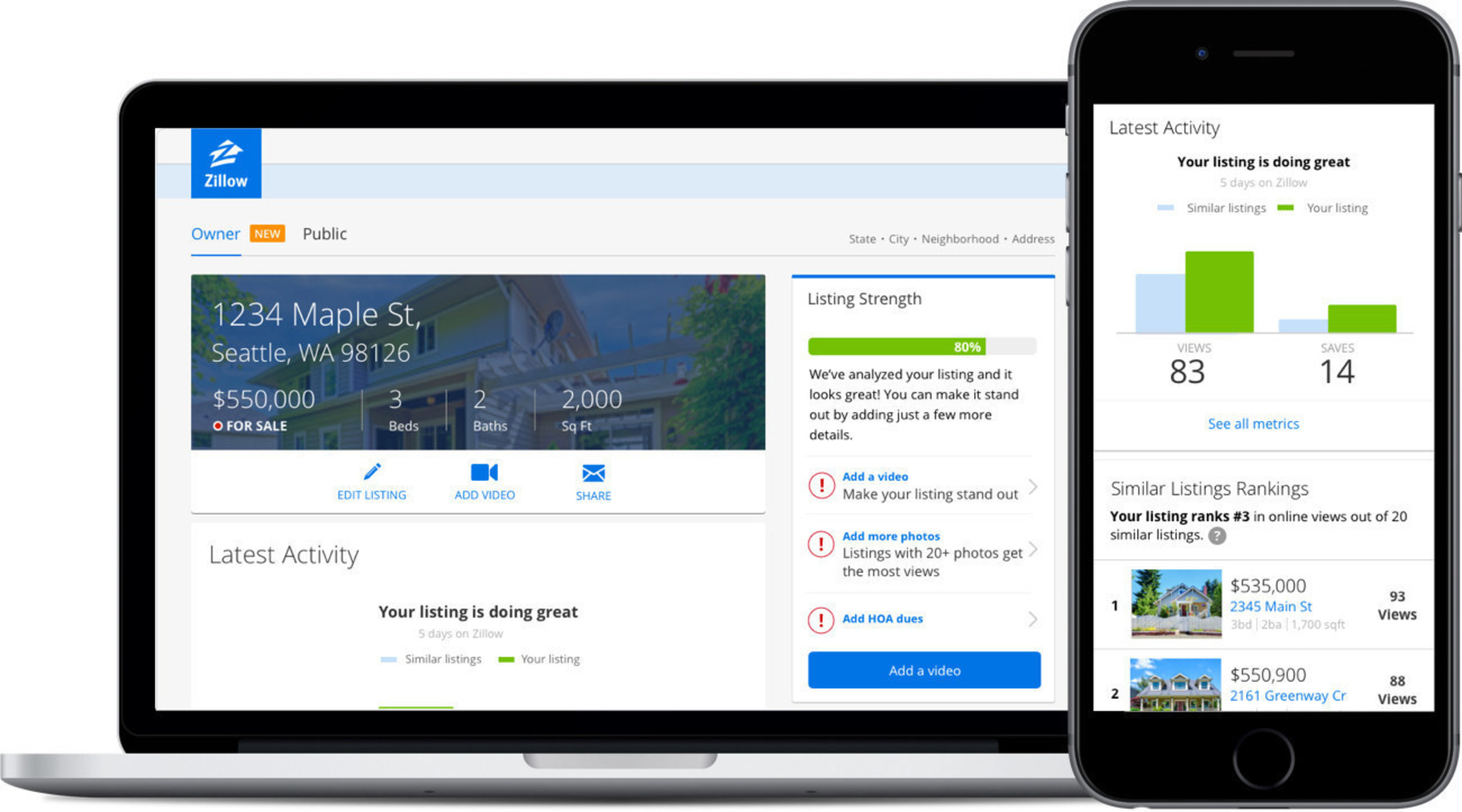 Home Sellers Can Now Access Real-Time Information on Their Listing's Performance Through Zillow's New Owner Dashboard