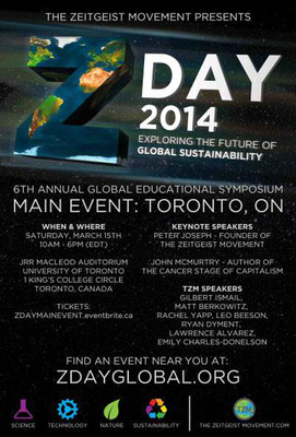 ZDay 2014 Main Event Poster.  (PRNewsFoto/The Zeitgeist Movement)