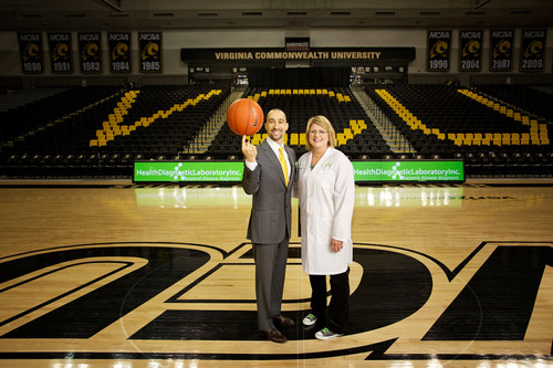 VCU Head Men's Basketball Coach Shaka Smart and Tonya Mallory, HDL, Inc. President, CEO and Co-founder. ...