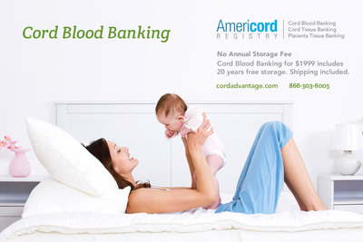 Cord Blood Banking https://cordadvantage.com. (PRNewsFoto/Americord Registry) (PRNewsFoto/AMERICORD REGISTRY)