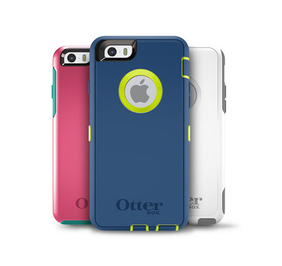 OtterBox cases for iPhone 6 available now; iPhone 6 Plus cases coming soon.
