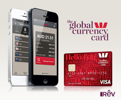 The Westpac Global Currency Card.  A reloadable Visa prepaid card offering travelers 11 currency exchange options and on the go account management features.