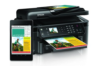 Home and business mobile users can now print from Google apps (Chrome, Gmail, Drive, QuickOffice) and the Adobe Reader and Kingsoft WPS Office App to Mopria-certified Epson all-in-one printers - regardless of brand, device or operating system. Designed to work seamlessly with the Mopria Print Service and the built-in Printing Framework in Android V4.4 or later (KitKat), Epson Mopria-certified printers enable intuitive mobile printing for an unprecedented number of new Android users. Epson Connect Solutions Finder is also available online to help mobile users navigate the numerous mobile printing solutions and apps available to best meet specific mobile printing needs. (PRNewsFoto/Epson America, Inc.)