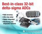 Best-in-class 32-bit delta-sigma ADCs