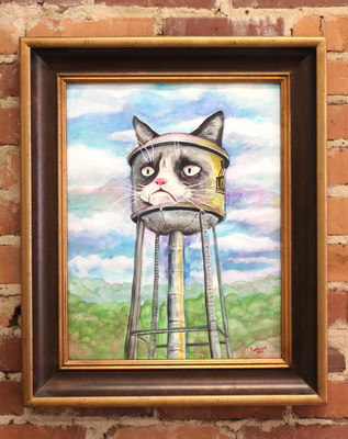 "One of the dozens of ""Grumpy Cat Art Project"" entries.  (PRNewsFoto/The Grumpy Cat Art Project at Lowe Mill ARTS & Entertainment, Dustin Timbrook/LoweMill.net)"
