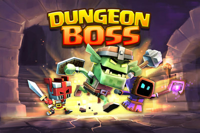 Dungeon Boss is a new mobile game from Big Fish and Boss Fight Entertainment, veteran game developers, many of whom were key in the development of CastleVille, Age of Empires, Rise of Nations and Halo Wars.  Dungeon Boss is a collectible Role-Playing Game that was designed to be accessible to a mainstream audience.  It will engage mobile gamers of all types with fast and fun gameplay as they collect unique heroes and build teams to battle against epic bosses. (PRNewsFoto/Big Fish)