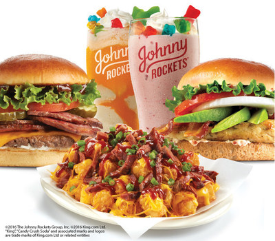 It's Summertime At Johnny Rockets - BBQ Beef Brisket and Candy Crush(R) Float and Shake Take on a Whole New Level of Yum on Limited Time Menu