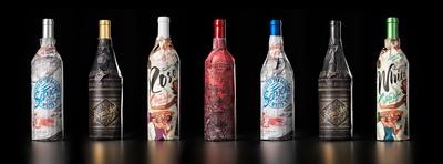 Evocative Wrapped Bottle Series from Truett-Hurst wine company hits Safeway wine shelves nationally in September.  (PRNewsFoto/Truett-Hurst)