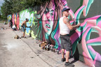 Graffiti artists honor World Hepatitis Day 2015 in Denver at Hep C Connection's street art fair at Owl and Orchid Tattoo.