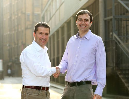Alberto Spinelli (L), Director of Digital Services at Canon Europe and Nicholas Babaian (R), CEO and co-founder of Lifecake (PRNewsFoto/Canon Europe)