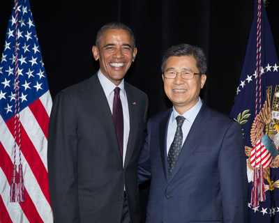 Hankook Tire Vice Chairman and CEO Seung Hwa Suh met with President Barack Obama in an exclusive meet and greet prior to President Obama's keynote speech at DAV's (Disabled American Veterans) 95th National Convention in Atlanta earlier this month, underscoring their shared commitment to supporting America's veterans. Hankook has been a proud partner of DAV's since 2014 and continues to work with DAV to provide veterans with the benefits and services they need following their military service.