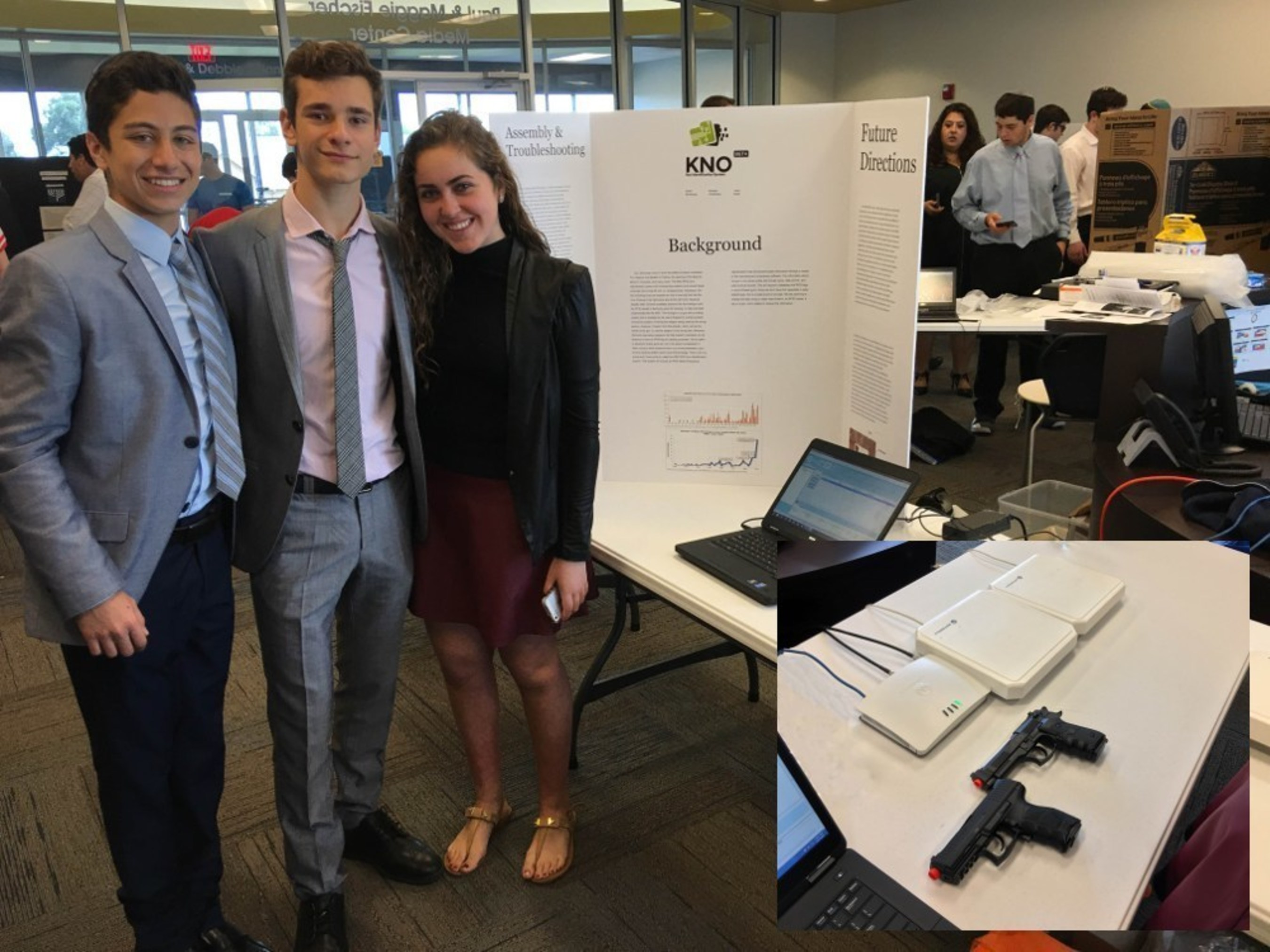 With the help of a Long Island company, three Florida high school freshmen are using technology and ingenuity to try to end school shootings.