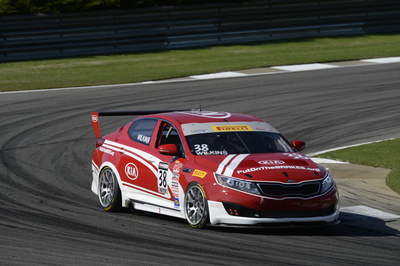 Kia Racing wins round three of the Pirelli World Challenge at Barber Motorsports Park. (PRNewsFoto/Kia Motors America)