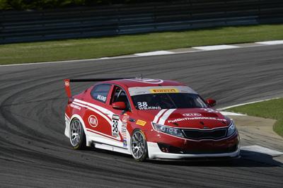 Kia Racing wins round three of the Pirelli World Challenge at Barber Motorsports Park. (PRNewsFoto/Kia Motors America)