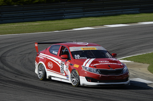 Kia Racing wins round three of the Pirelli World Challenge at Barber Motorsports Park. (PRNewsFoto/Kia Motors ...