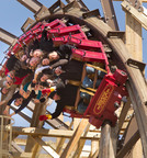 Outlaw Run is the world's first wood coaster to twist upside down with a record-breaking three inversions.