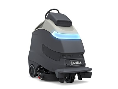 Pictured here: the first Nilfisk product to be launched in The Horizon Program, a strategic, long-term program that focuses on bringing state-of-the-art connected solutions and autonomous cleaning to market, enabling customers to deploy unmanned floor cleaning with accuracy and precision.