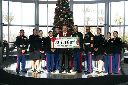 United States Marine Corps Reserve Toys for Tots Receives Gift From Stater Bros. Charities