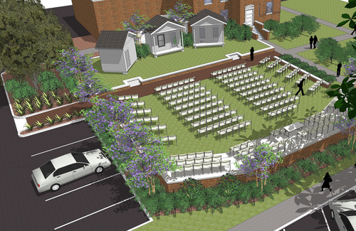 "Artists rendering of new Monroeville, Ala., Amphitheater, new home of the annual outdoor production of ""To Kill a Mockingbird.""  (PRNewsFoto/Georgia-Pacific)"