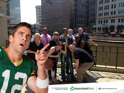 Create your own Aaron Rodgers photobomb image (PRNewsFoto/Associated Banc-Corp)