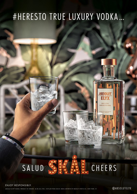 First Absolut Elyx #HeresTo Campaign Image
