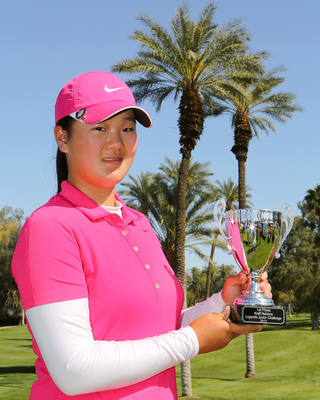 Angel Yin, winner of the 2013 Kraft Nabisco Legends Junior Challenge.  (PRNewsFoto/Southern California Golf Association)