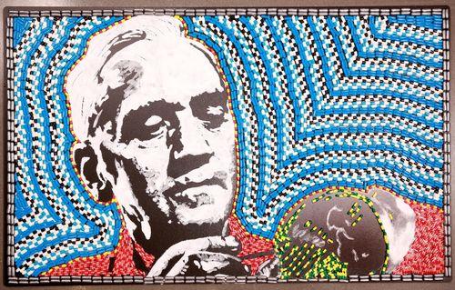 Portrait of Alexander Fleming by Nathan Wyburn using 25,800 capsules (PRNewsFoto/CPA Global)