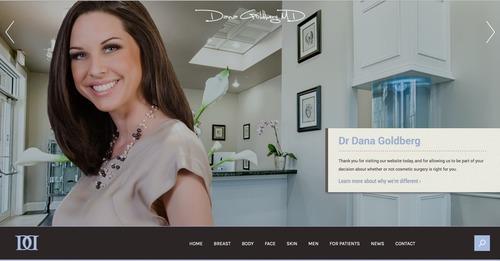 Dana M. Goldberg announces the launch of a massive website redesign of http://www.drdanamd.com.  (PRNewsFoto/Dr. Dana M. Goldberg MD)