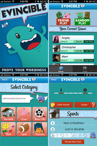 Mobile Game Evincible Challenges You To 'Prove Your Wordiness'