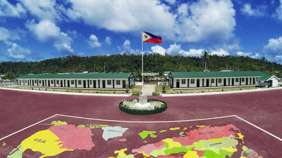 The newly rebuilt Ngolos Honeywell Elementary School in Guiuan, Eastern Samar in the Philippines was open today