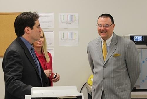 AAAE's Todd Hauptli visit Implant Sciences (PRNewsFoto/Implant Sciences Corporation)