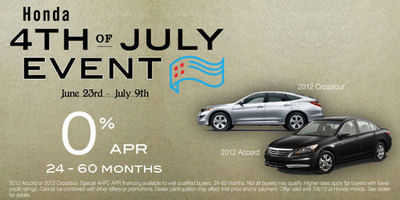 Howdy Honda is offering a special 4th of July sales event.  (PRNewsFoto/Howdy Honda)