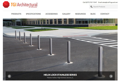 TGI Architectural by TrafficGuard, a safety, security and traffic bollard manufacturer, launched its site of 304 stainless steel security traffic posts, which are known for their durable protection.  (PRNewsFoto/TrafficGuard Direct)