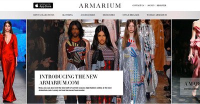 Armarium homepage featuring Peter Pilotto Fall Winter 2016 collection. Available to rent at Armarium online or through our app.