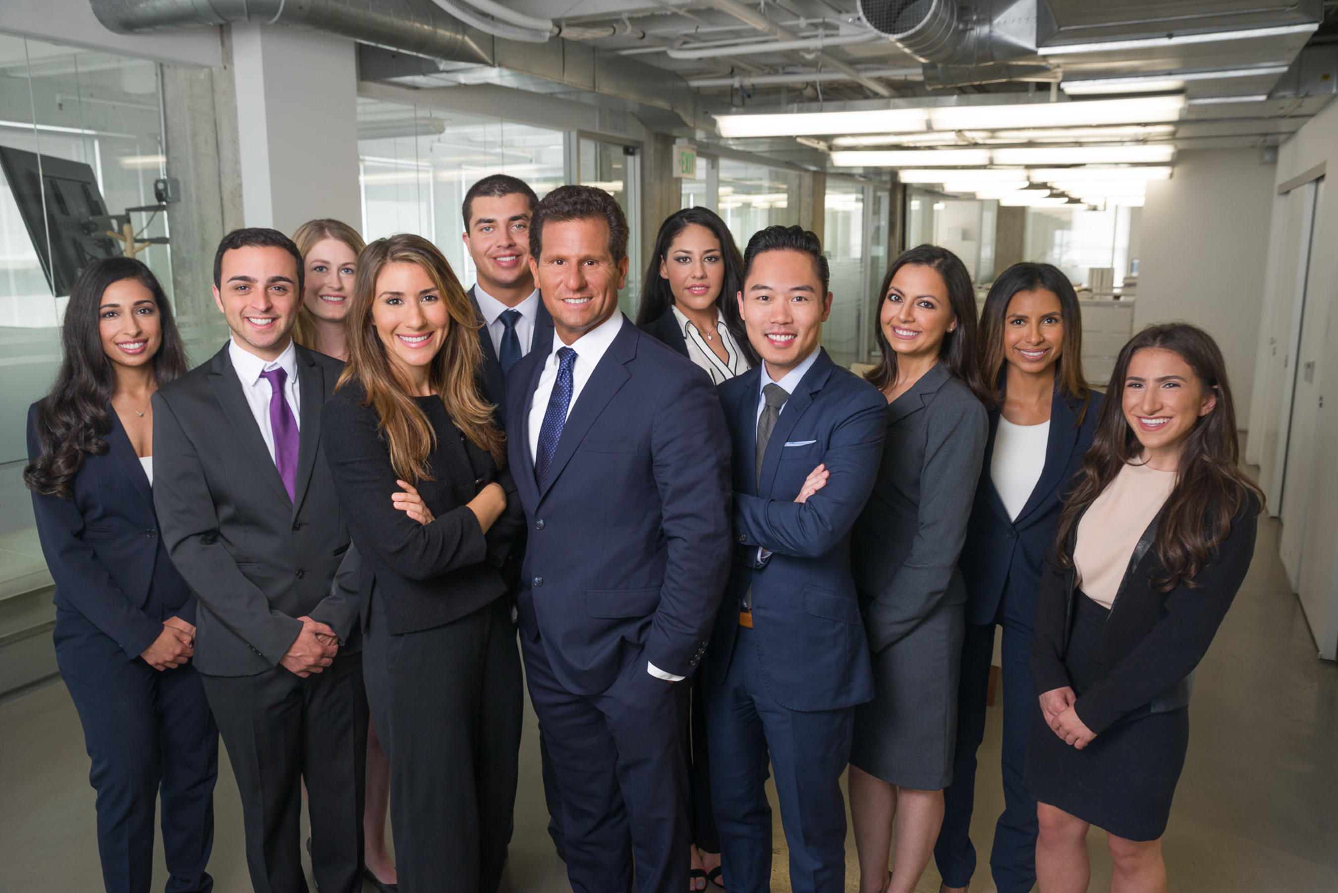 Carney Shegerian with his legal team at the Los Angeles offices of Shegerian & Associates