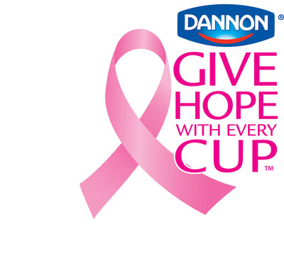 Dannon will donate 10 cents for each under-the-lid code entered at www.cupsofhope.com before 11/30/10 - up to $1.5 million - to the National Breast Cancer Foundation, Inc.(R).  (PRNewsFoto/National Breast Cancer Foundation)