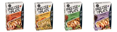 Introducing Freezer to Plate, an expansion of General Mills' The Good Table product line that brings its easy, gourmet-style meal preparations to frozen chicken. Eliminating the time-intensive process of thawing chicken, Freezer to Plate requires less than five minutes to get frozen chicken into the oven. True to The Good Table's focus on quality ingredients, Freezer to Plate does not contain artificial flavors, high-fructose corn syrup or colors from artificial sources.