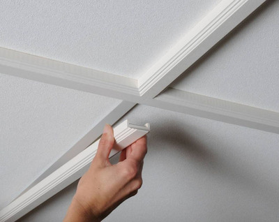 Plastic likewise Mouldings moreover Farmhouse Style Kitchen also Fluted Moldings together with Selecting Crown Molding Sizes Profiles Options. on decorative ceiling molding