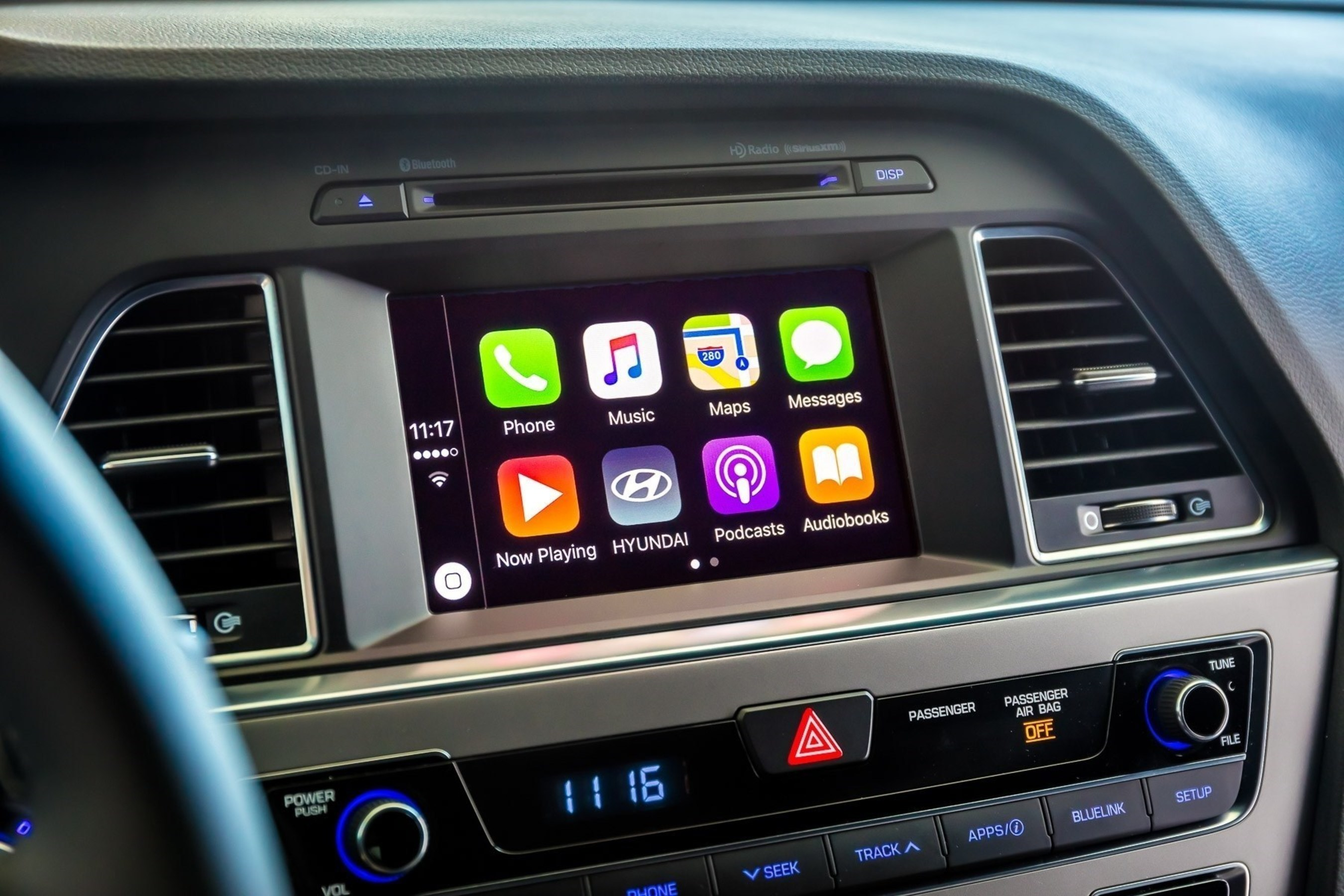 Hyundai is adding smartphone integrations to several more existing models today, via do-it-yourself installation and now has completed the rollout of smartphone integration across the 2017 model year lineup. The software update compatible with CarPlay and Android Auto is now available at no cost through MyHyundai.com (www.myhyundai.com). The software will also be available at Hyundai dealerships nationwide for an installation fee.