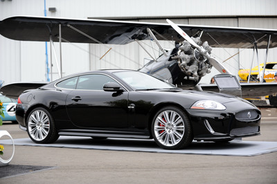 Jaguar today revealed the 2011 XKR 175 75th Anniversary Coupe at Monterey Jet Center in Monterey, Ca. The XKR is a special limited edition which celebrates the 75th anniversary of the Jaguar name.  (PRNewsFoto/Jaguar/Glen Davis)