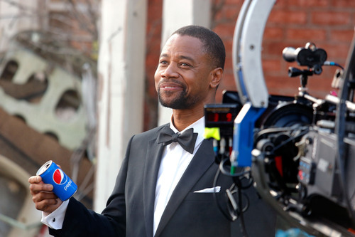 "Academy Award winner Cuba Gooding Jr. on the set of the Pepsi ""Mini Hollywood"" ad shoot in Los Angeles.  ..."